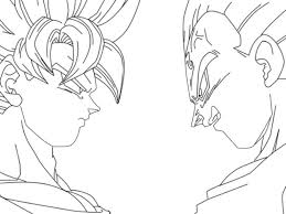 Dragon Ball Coloring Pages Vegeta Printable Coloring Page For Kids