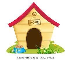animal home clipart. Interesting Clipart Illustration Of Dog Kennel With Text U0027home U0027 On A Notice Board Bowl In Animal Home Clipart