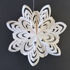 10 white enchanted holiday premium handcrafted paper snowflake hanging decoration