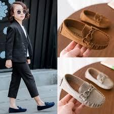 <b>Children</b> Boys <b>Girls</b> Loafers <b>Kids</b> Shoes <b>Solid</b> Color Soft Bottom ...