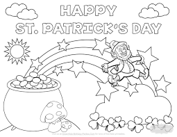 St Patricks Day Coloring Coloring Pages St Patricks Day Coloring Page Bertmilne