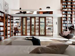 home library lighting. Natural Modern Design Of The Library Home Sofa White That Has Warm Hang Lamp Lighting