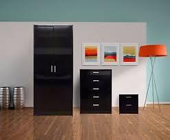 bedroom furniture black gloss. image is loading highglossbedroomfurnitureset2doorwardrobe bedroom furniture black gloss i