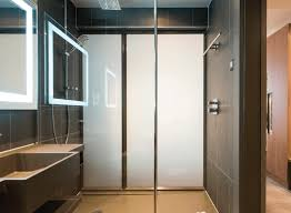 novotel smart glass shower switched to off