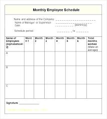 Free Employee Schedule Maker Excel Template Com Work Plan Mo