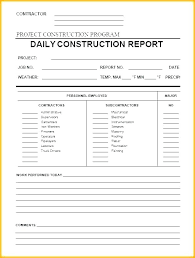 Employee Daily Progress Report Format Form Template Co Work
