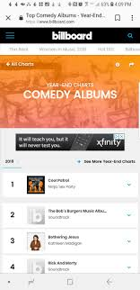 Comedy Album Charts Cool Patrol Is Billboards 2018 Top Comedy Album Of The Year