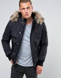 schott vermont 4 hooded er detatchable faux fur trim black men coat schott flight jacket with leather sleeves schott jacket black usa