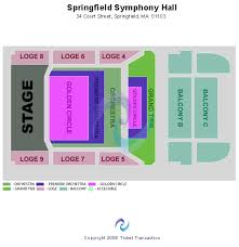 Springfield Symphony Hall Seating Chart