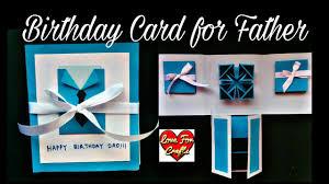 Design A Birthday Card For Dad Handmade Birthday Card For Father Diy Scrapbook Idea