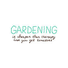 Quote Garden Simple Hand Lettering About Gardening Typography Poster With Inspirational