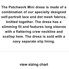 Self Portrait Size Chart Self Portrait Blue Gray Patchwork Mini Short Cocktail Dress Size 4 S 47 Off Retail