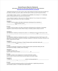 Sample Resume Objective Statement 100 Sample Resume Objectives PDF DOC Free Premium Templates 4