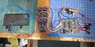 the picaxe was then loaded with the full program and tested before the embly was connected to the wiring for the point motors and placed in the control