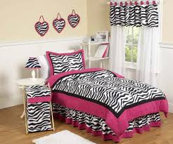 hot pink black white zebra print comforter sets full queen girls