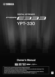 Yamaha Psr E333 Owners Manual Manualzz Com