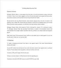 Retail Business Plan Outline Boutique Business Plan Template 14 Free Pdf Word Format Download
