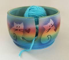 kitty cat yarn bowl by award winning artist judith stiles