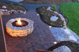 stamped concrete patio with square fire pit. Stamped Concrete Patio With Square Fire Pit. Unique 23 Brick  For Pit