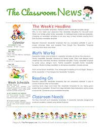 Teachers Newsletter Templates 015 Free Printable Newsletter Templates For Preschool
