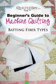 Beginner's Guide to Machine Quilting: Batting Fiber Types - & Just as there are many choices when it comes to the fiber type you can  choose Adamdwight.com