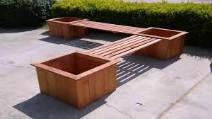 outdoor wood planter bench plans