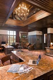 home office ceiling lighting. Granite Table Tops Home Office Traditional With Atrium Carpet Pattern Ceiling. Image By: John Kraemer Sons Ceiling Lighting