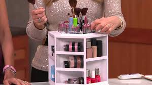 tabletop spinning cosmetic organizer by lori greiner with lisa robertson