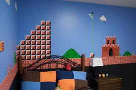 Super Mario Bedroom Father Hand Paints Super Mario Bros Mural In Sons Bedroom Curbed