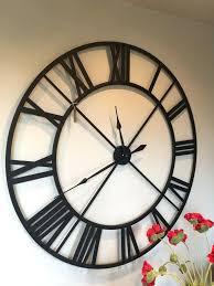 black wall clocks large black metal outline skeleton wall clock large black wall clock uk black wall clocks