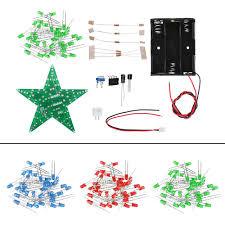 Diy Light Kit Diy Red Green Blue Light Led Flash Kit With Battery Box Pentagram Light Star Light Kit