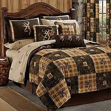 Browning Country 7 PC Queen Quilt Comforter Bedding Set -lodge Log ... & Browning Country 7 PC Queen Quilt Comforter Bedding Set -lodge Log Cabin  Hunting | eBay Adamdwight.com