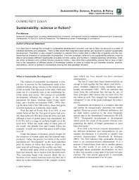 sustainability science or fiction pdf available