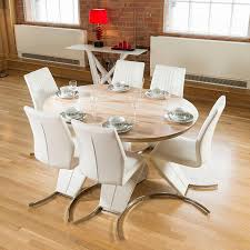 oak oval extending dining table and chairs room ideas