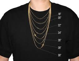 Chain Length Chart Inches Necklace Size Chart If Co
