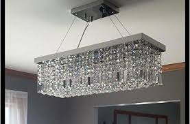 likeable rectangular crystal chandelier in crystop rectangle chandeliers dining room modern ceiling