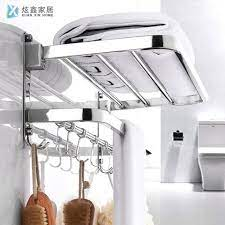 folded hanger wall mounted towel shelf