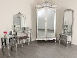 High Quality Mirrored Silver French Style Mirror Gold Shabby Chic Antique Bedroom  Furniture | EBay
