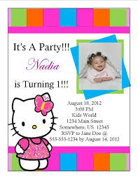 Hello Kitty Party Invitation Hello Kitty Birthday Invitation 9 From Southern Desktop Publishing