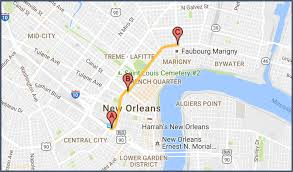 garden district new orleans walking tour map. Garden District New Orleans Walking Tour Map