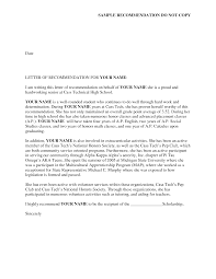 A Letter Of Recommendation Example Writing A Letter Of Reference Example For Friend Student
