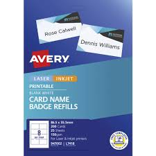 How To Print Avery Name Badges Avery Name Badge Refill Cards 200 Pack