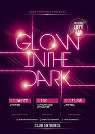 Part Flyer Glow Party Flyer Template Buscar Con Google Xv Party Ideas