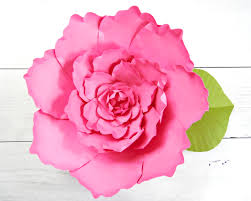 Peony Paper Flower Giant Peony Paper Flower Tutorial Catching Colorflies