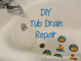 bathtub drain removal tool broken