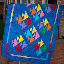 Fish. Tutorial. Wonderful tutorials on this site. Thanks Mary ... & Fish Quilt by MaryQuilts This Fish Quilt free Pattern by MaryQuilts.Quilt  Size Block size is 5 inches finished inches with seam allowances)Block with  4 fish ... Adamdwight.com