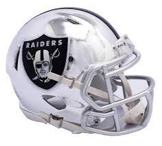 Details About Nfl Oakland Raiders Chrome Alternate Speed Mini Helmet Unisex Fanatics