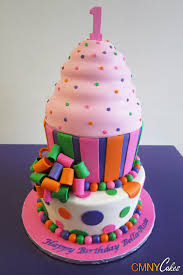 Giant Pink Cupcake First Birthday Cake Cmny Cakes