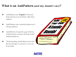 Anti Pattern Beauteous What Is An AntiPattern And Why Should I Care