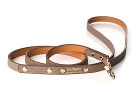 zoopar s leashes and collars are crafted from ero barenia and epsom embossed leather with stunning details including an optional distinctive